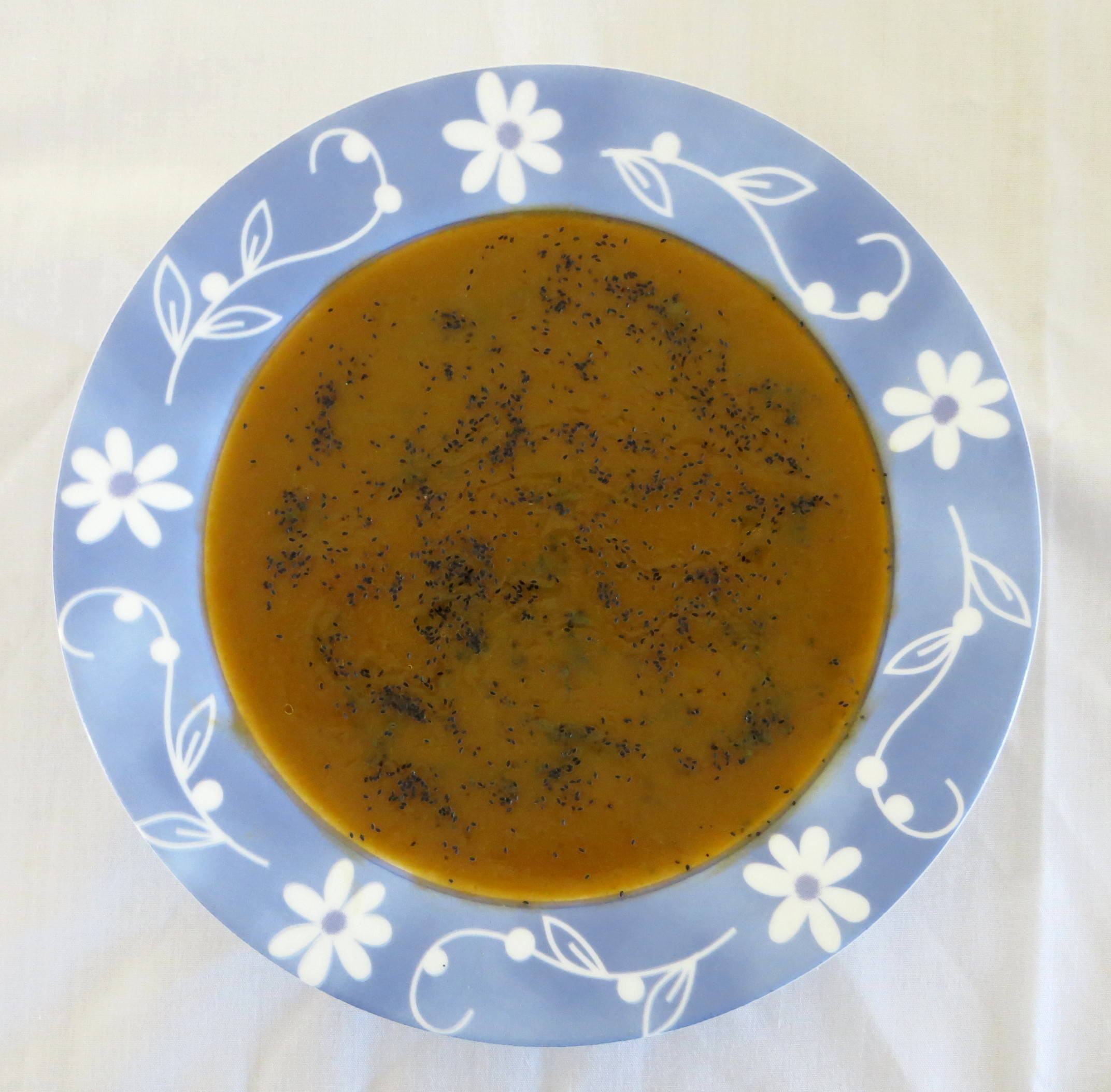 Plate with millet and tukmaria soup